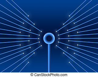 Connectivity concept - Illustration depicting illuminated...