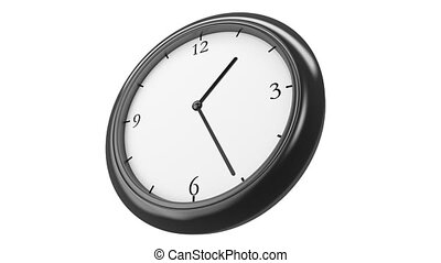Clock Time Lapse in perspective HD, - Clock with Twelve hour...