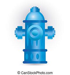 hydrant - blue hydrant