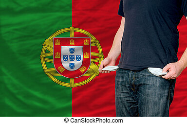 recession impact on young man and society in portugal - poor...