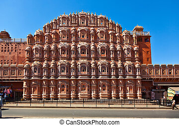 Hawa Mahal in Jaipur, Rajasthan, India. - Hawa Mahal, the...
