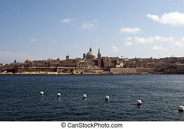 Valetta - Skyline of the Malta city Valetta