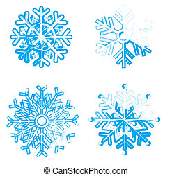 Snowflakes collection. Element for design.