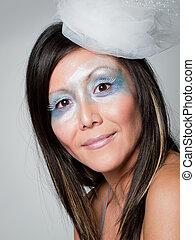 """Ice Queen - Ice queen - beautiful woman in """"winter""""..."""