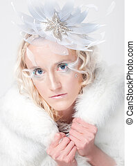 "Ice Queen - Ice queen - beautiful woman in ""winter""..."