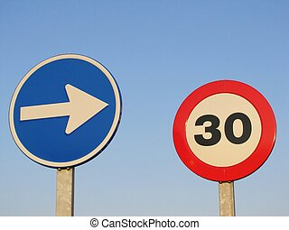 traffic signs - Spanish traffic signs European