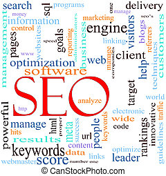 SEO Word Cloud Concept - An illustration around the word /...