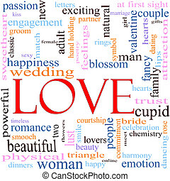 Love Word Cloud Concept - An illustration around the word...