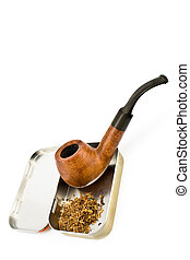 Tobacco pipe with tin box