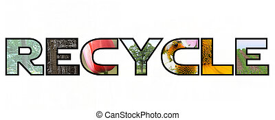 Recycle Nature Photos Concept - The outline of the word...