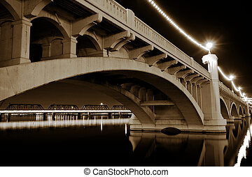 Tempe Arizona Mill Avenue Bridge - Mill Avenue Bridge across...