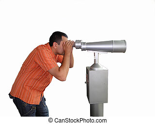 telescope - young man with telescope...