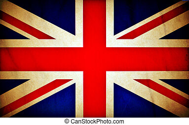 Great Britain grunge flag