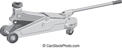 Hydraulic Car Jack - Illustration of a hydraulic car jack...