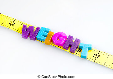 Weight word on cm ruler