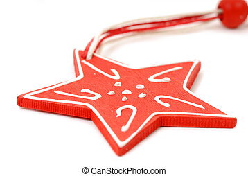 Red Star Christmas ornament - Christmas ornament wood red...
