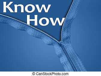 Know How word under zipper - Know How word under blue zipper