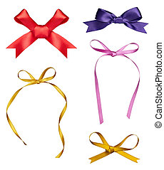 silk ribbon knot gift christmas bir