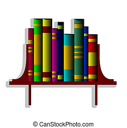 The Books on regiment. - The Books in pile on book regiment....
