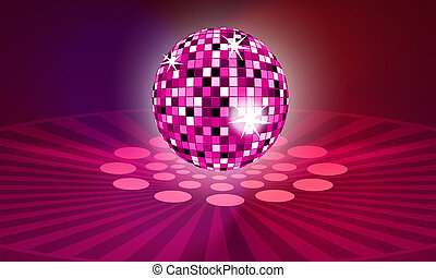 The Disco ball rose - The Disco ball with reflection rose.