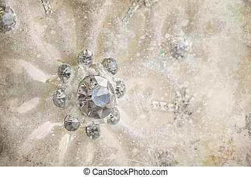 Snowflake ornament with winter background