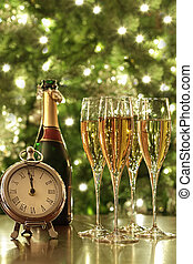 Glasses of champagne for New Years
