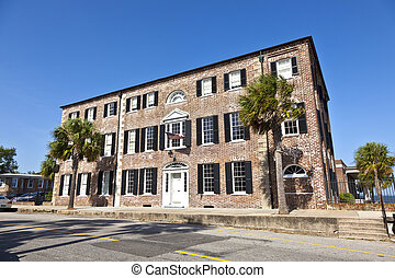 headquarter of Charleston Historic foundation, an old historic brick building
