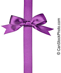 silk ribbon knot gift christmas birthday holiday - close up...