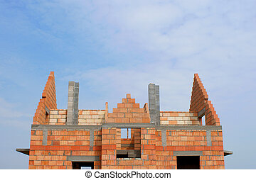 construction of a home building