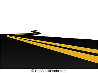 Motorway - Highway with a dividing strip The illustration on...
