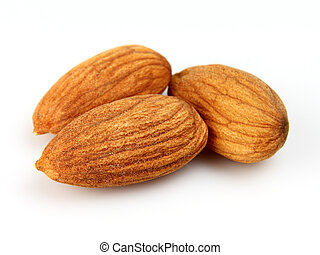 Kernel of almonds in closeup
