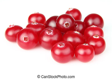 Heap of cranberry on a white background