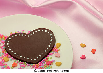 Heart-shaped chocolate - This is heart-shaped chocolate. I...