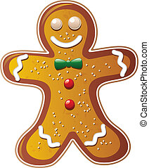 vector gingerbread cookie man