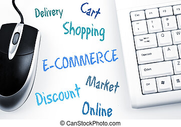 E-commerce word scheme and computer keyboard