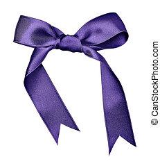 silk ribbon knot gift christmas birthday holiday - close up...