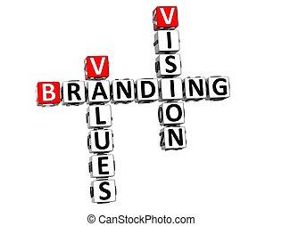 3D Branding Vision Values Crossword