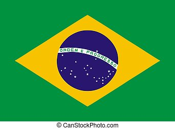 Brasilian flag - Brasil flag - isolated illustration