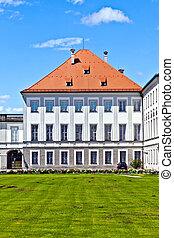 park in nymphenburg castle, munich - park in nymphenburg...