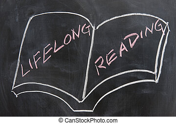 Chalkboard image - lifelong reading - Chalkboard image -...