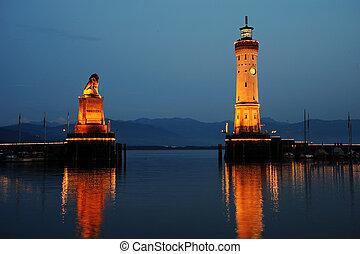Old port of Lindau, Germany
