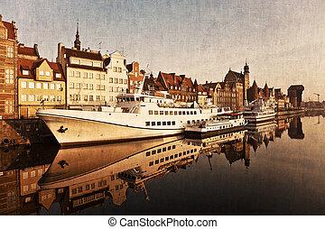 styl, nadrzecze,  Gdańsk,  retro