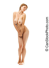 Naked woman with big breast.