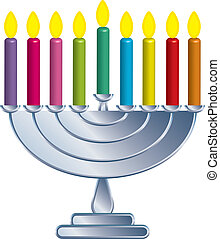 Channukah lamp - Illustration of Channukah lamp
