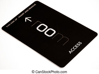 access card on white background