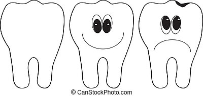 teeth - Vector illustration of teeth