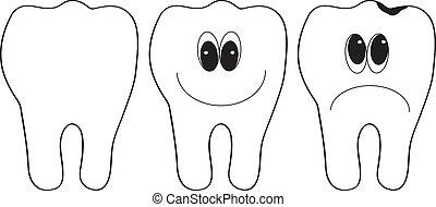 teeth - Vector illustration of teeth