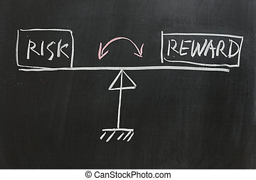 Risk or Reward - Chalkboard drawing - Measure of Risk and...