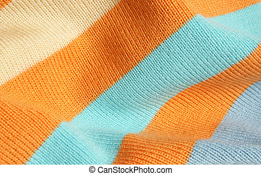 Striped knitted fabric - Background of striped knitted...