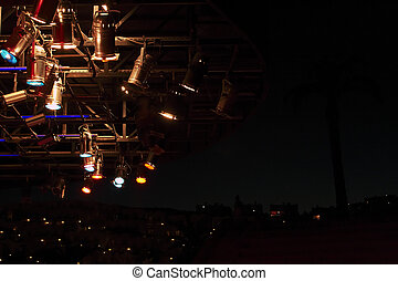structures of stage lights equipment